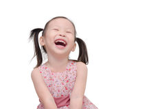 Girl laughing over white background Royalty Free Stock Photo