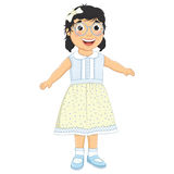 Girl Laughing Vector Illustration Royalty Free Stock Image