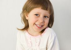 The girl laughs Royalty Free Stock Photos