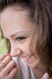 Girl laughs Royalty Free Stock Image