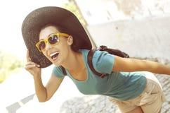 Girl laughs Stock Photos