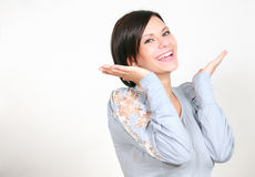 Girl laughs Stock Image