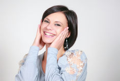 Girl laughs Royalty Free Stock Photo
