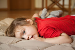 Girl  laying Royalty Free Stock Photo