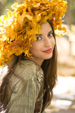 Girl with a Leaf Wreath Stock Photography