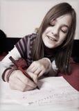 Girl learn Stock Photo