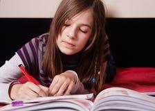 Girl learn Stock Image
