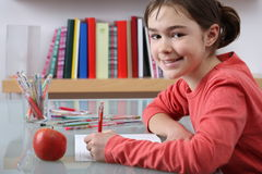 Girl learning Stock Images