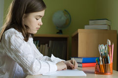 Girl learning Royalty Free Stock Photo