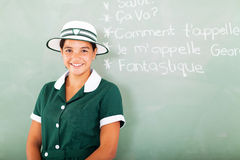 Girl learning French Royalty Free Stock Images