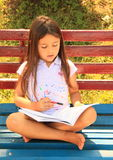 Girl learning for school Stock Photography