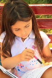 Girl learning for school Royalty Free Stock Image