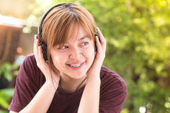Girl learning song Royalty Free Stock Photos