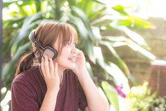 Girl learning song Royalty Free Stock Photography