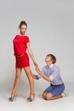 Girl leaving her boyfriend Stock Photo