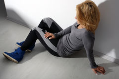 Girl in leggings Stock Photos