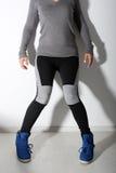 Girl in leggings Royalty Free Stock Photo