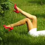 Girl legs Stock Image