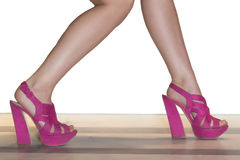 Girl legs and shoes Royalty Free Stock Image