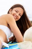 Girl on leisure Stock Images