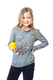 Girl with lemon Stock Photo