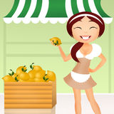 Girl with lemons Royalty Free Stock Images
