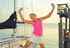 Girl with Lempiras Royalty Free Stock Photo