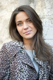 Girl in leopard coat Royalty Free Stock Photos