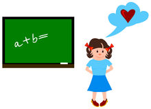 The girl at a lesson Royalty Free Stock Photo