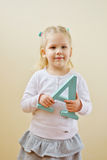 Girl  with letter A Royalty Free Stock Photos