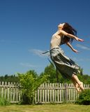 Girl in levitation Royalty Free Stock Images