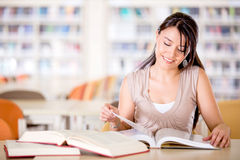 Girl at the library Royalty Free Stock Photography