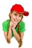 Girl lie prone Stock Photo