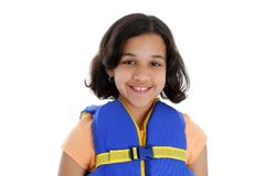 Girl In Life Jacket Royalty Free Stock Photos