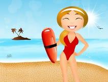Girl lifeguard Stock Photos