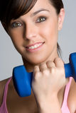 Girl Lifting Weights Royalty Free Stock Photo