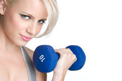 Girl Lifting Weights Royalty Free Stock Photography