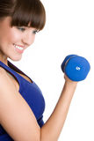 Girl Lifting Weights Royalty Free Stock Images