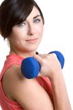 Girl Lifting Weights Royalty Free Stock Image