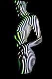 Girl and light Stock Image