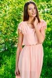 Girl in light dress Royalty Free Stock Image