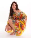 Girl in a light summer dress Stock Photos