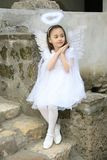 Girl like an angel Royalty Free Stock Photography