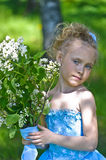 Girl with lilac Stock Photography