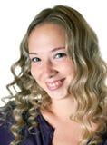 Girl in a lilac shirt Stock Photos