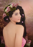 Girl with lilacs Royalty Free Stock Photos