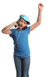 Girl Listeing to Music Royalty Free Stock Photos