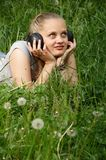 Girl listen music Royalty Free Stock Photography