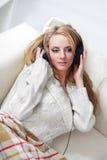 girl listen music Stock Photography