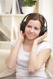 girl listen music Royalty Free Stock Photo